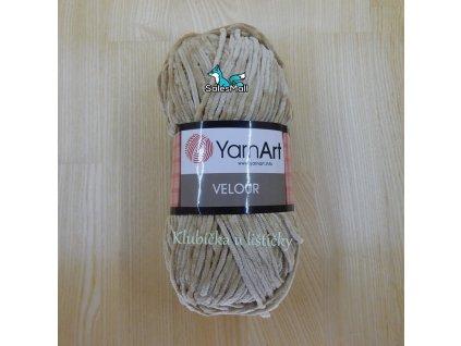 YarnArt Velour 843 - béžová