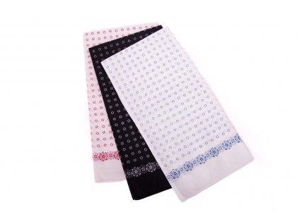 Šátek vzor květy 70x70cm