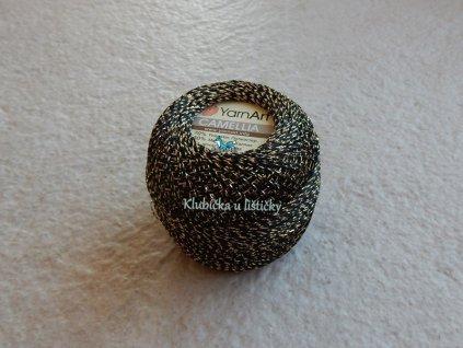 YarnArt Camellia 413 -černo zlatá