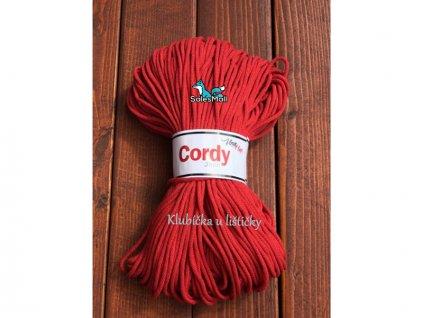 Vlna-Hep Cordy 3mm-červená