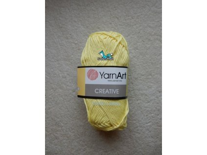 YarnArt Příze Creative 224 - světle žlutá