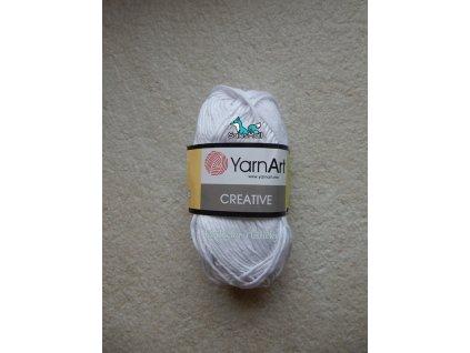 YarnArt Příze Creative 220 - bílá optic