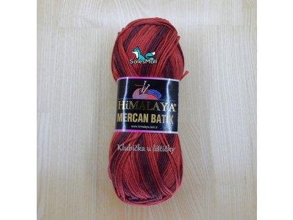 Himalaya Mercan Batik 59503 - červeno-vínovo-hnědý melír