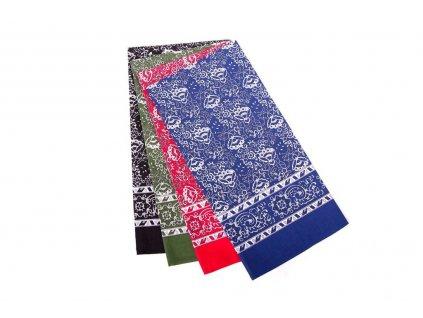 Šátek vzor kašmír 70x70cm
