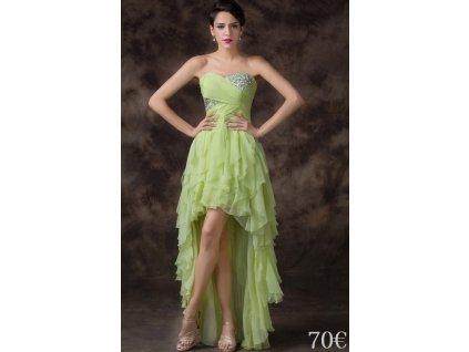 oliwkowa falbaniasta sukienka 33888