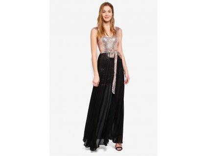 Goddiva 2 In 1 Sequin And Chiffon Dress black 53876 MT