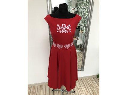 Šaty Folk červené
