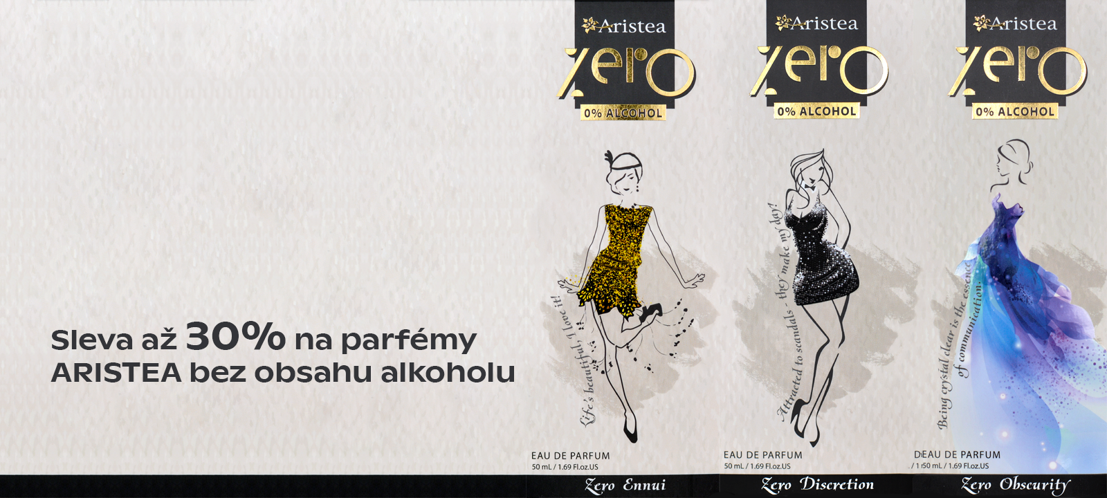 Sleva na parfémy Aristea ZERO