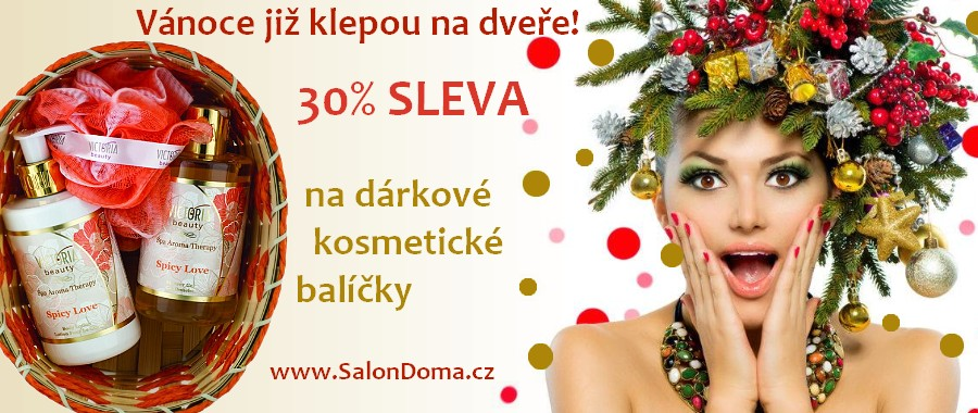 30% sleva na vánoční kosmetické dárkové balíčky