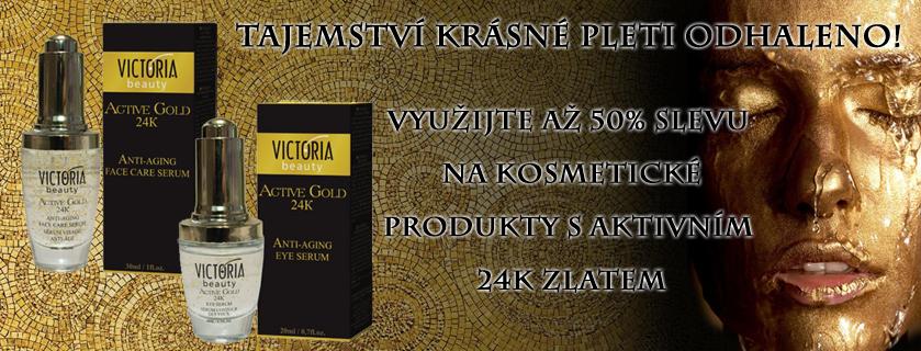 50% sleva na kosmetiku s aktivním 24k zlatem