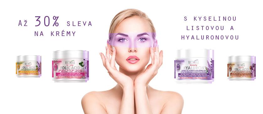 30% na kosmetiku s kyselinou listovou a hyaluronovou