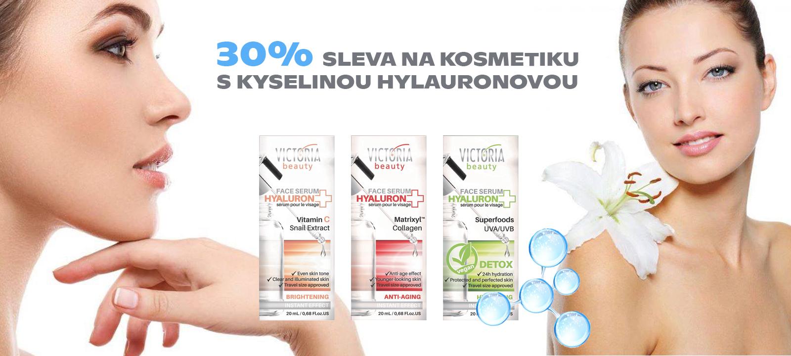 30% SLEVA na kosmetiku s kyselinou hyaluronovou
