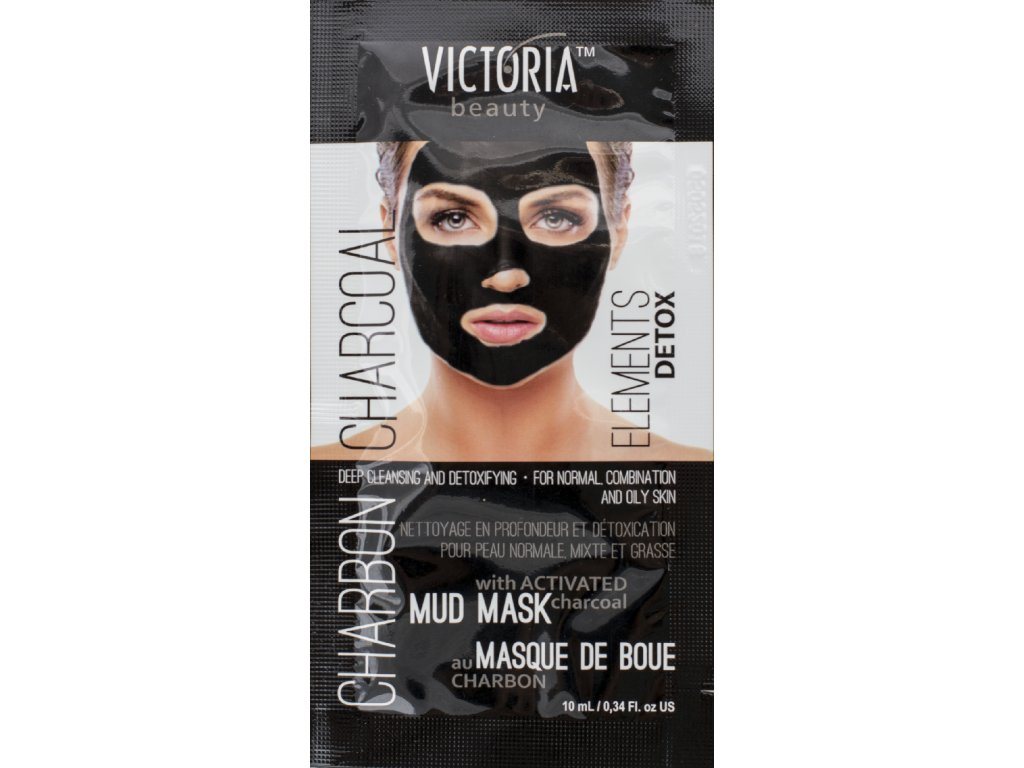 Victoria Beauty DETOX Mud Charcoal (uhlí) Bahenní maska  10ml