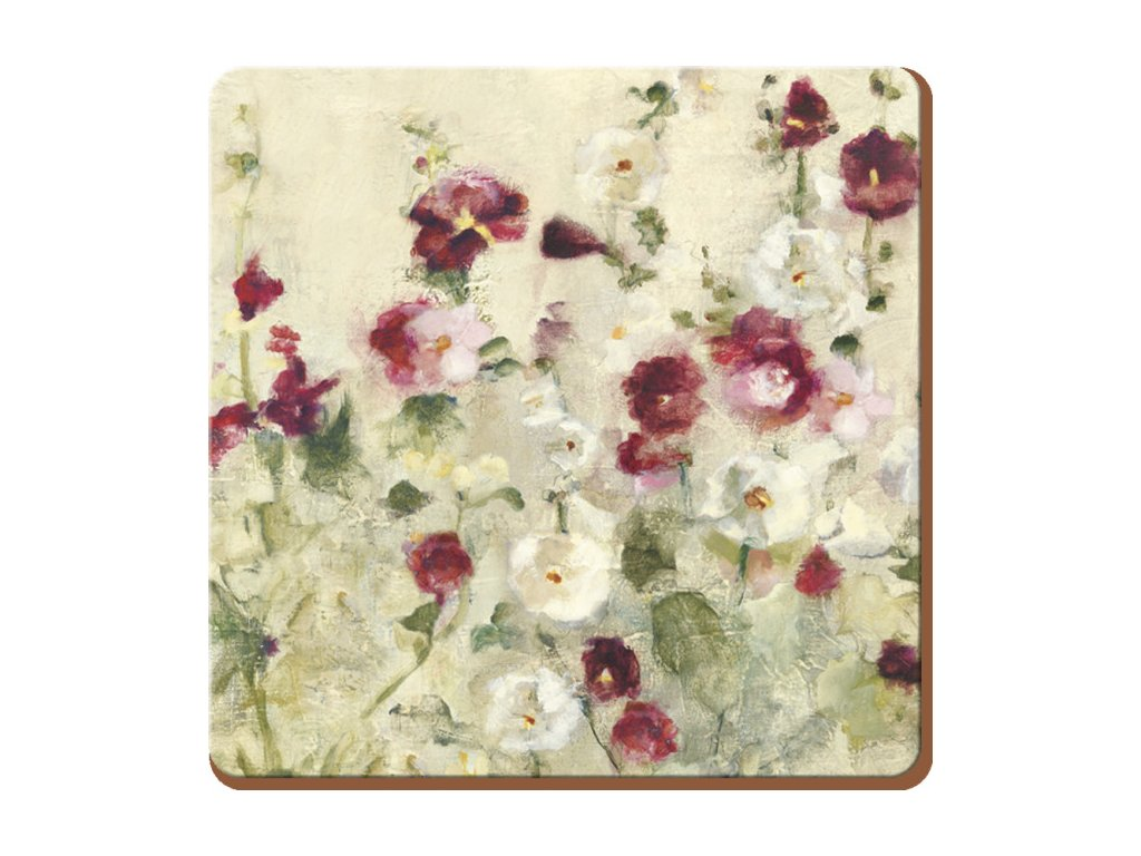 wild field poppies coaster