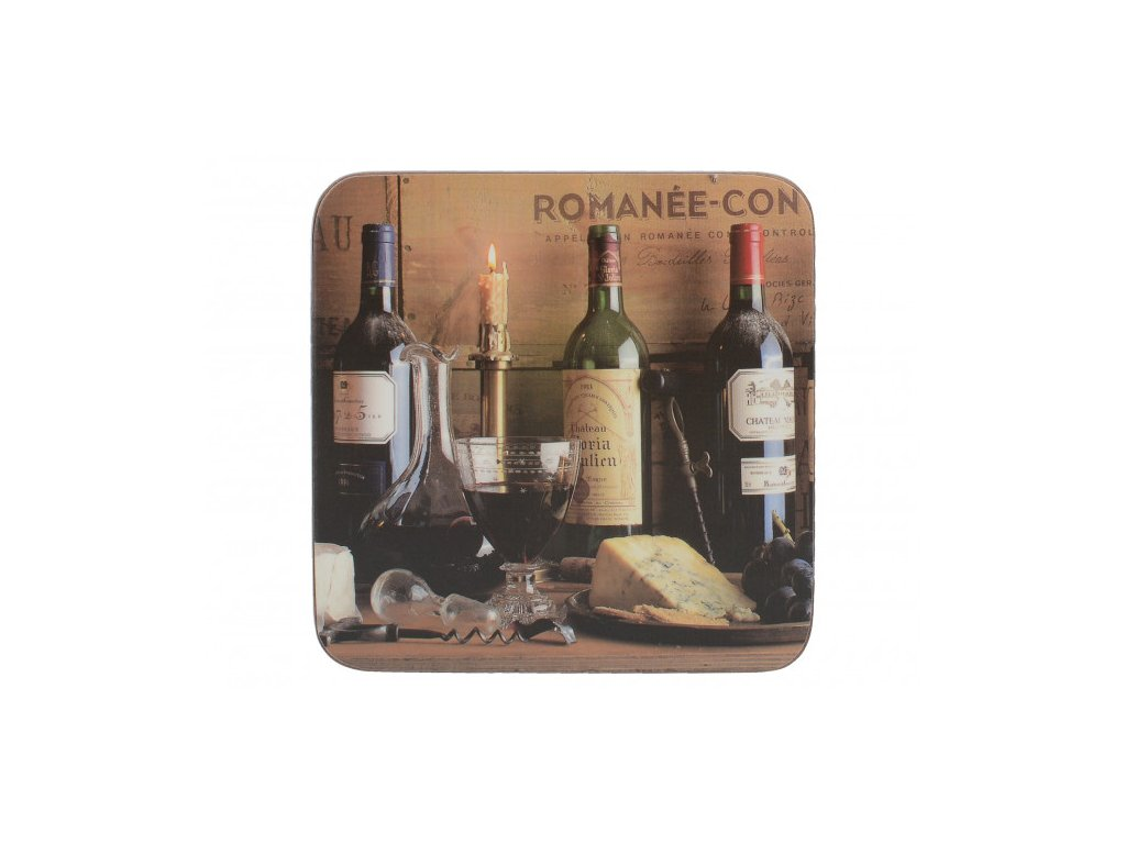 Creative Tops Korkové podložky pod skleničky Vintage Wine  10,5x10,5 6 ks