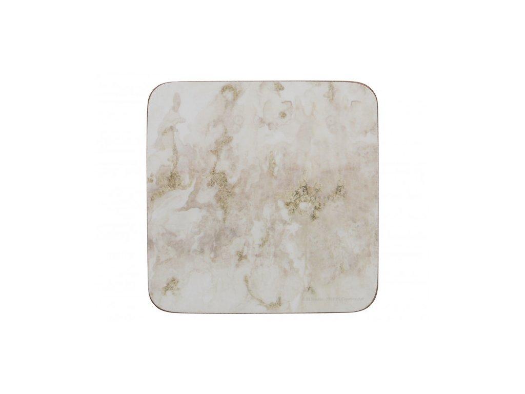 Creative Tops Korkové podložky pod skleničky Grey Marble 10,5x10,5 4 ks