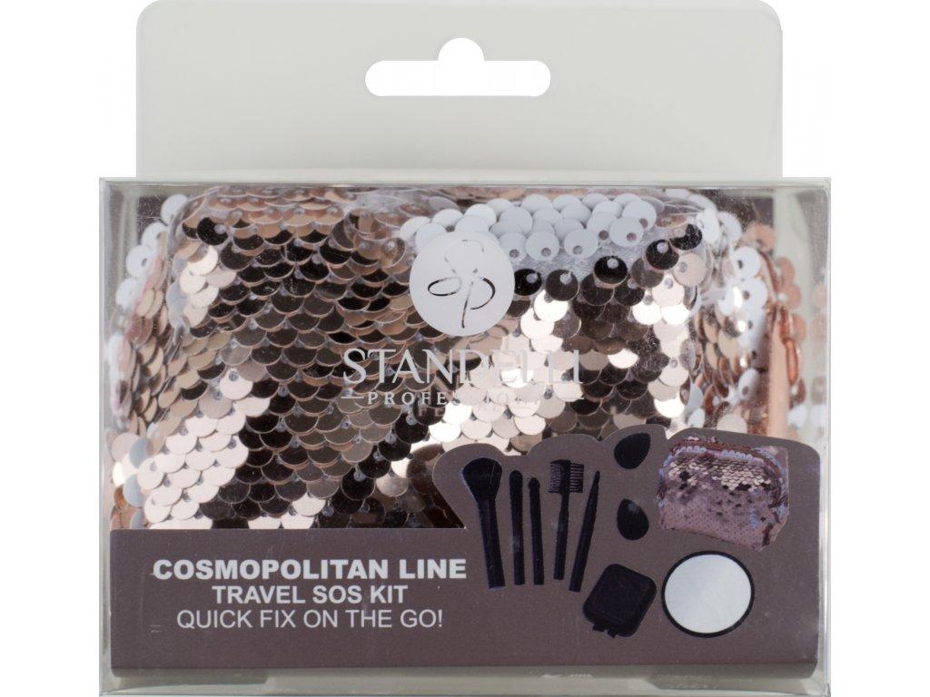 Standelli Professional Cosmopolitan Luxusní SOS cestovní set kosmetických pomůcek 9 ks