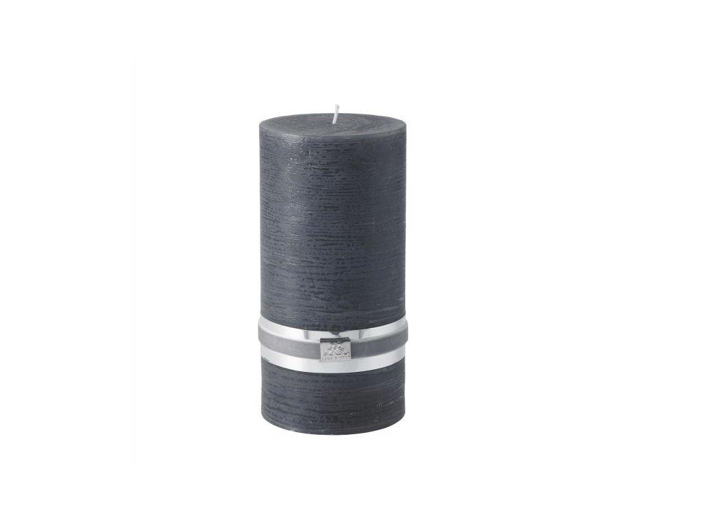 Lene Bjerre SVÍČKA RUSTIC, XL, tmavě šedá, 120 hodin