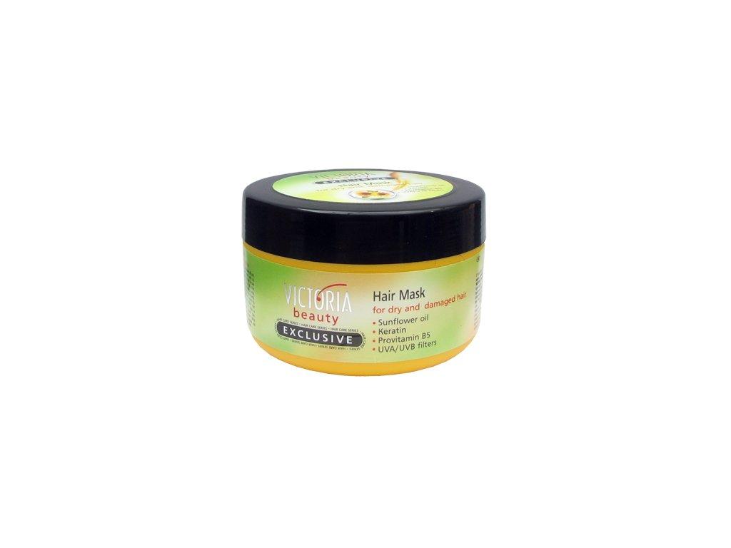 Victoria Beauty Exclusive Krémová maska pro suché a poškozené vlasy s keratinem, 350 ml