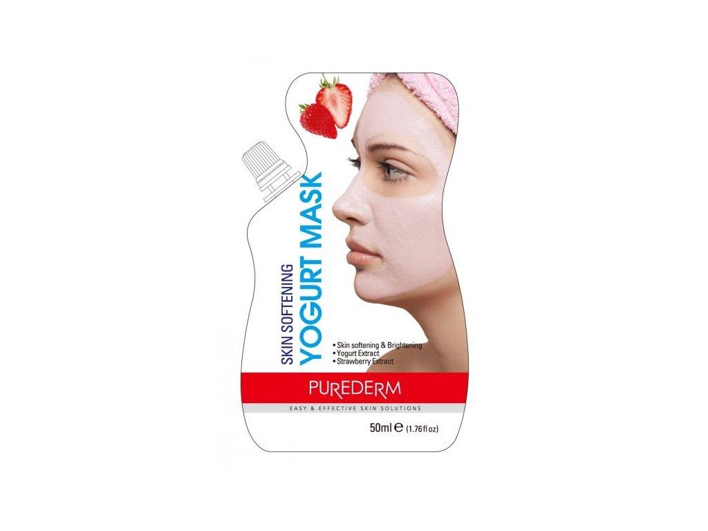 Purederm Zvláčňující jogurtová maska s jahodami, 50 ml