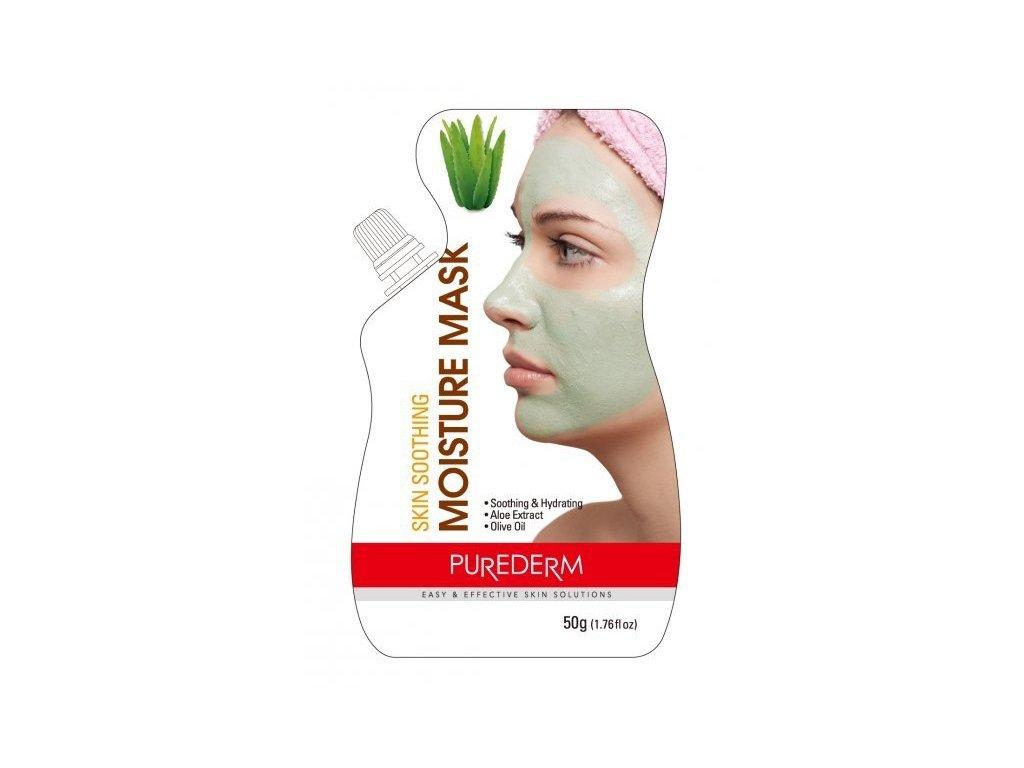 Purederm Zvláčňující hydratační pleťová maska s Aloe Vera, 50 ml