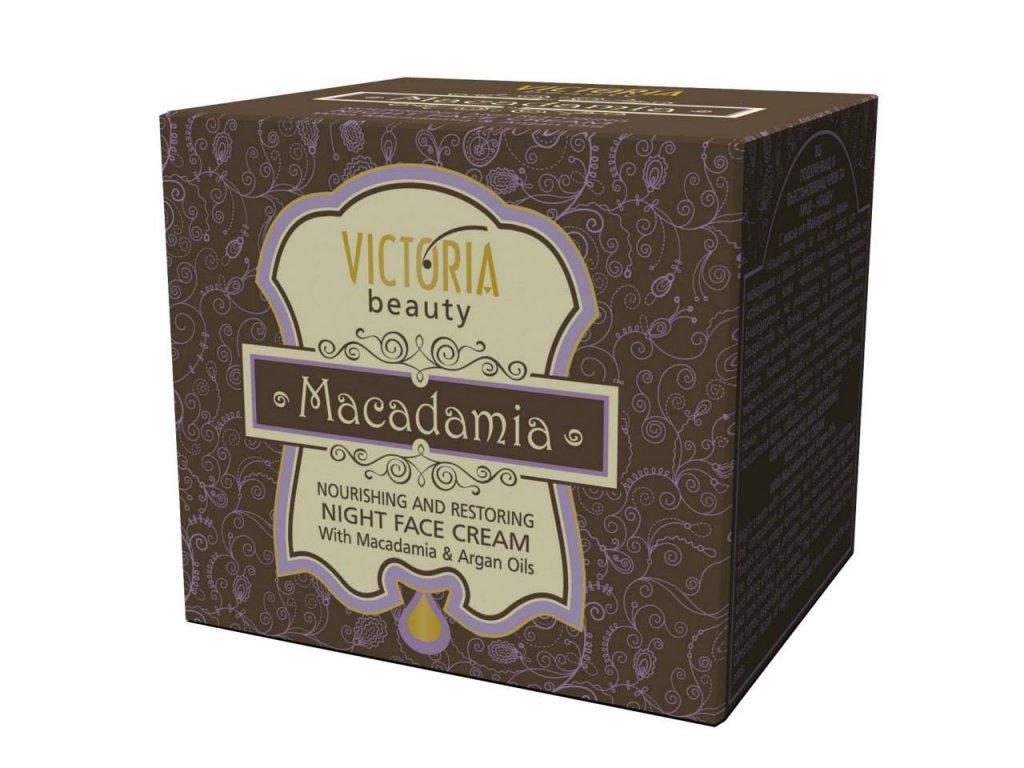 Victoria Beauty Macadamia Výživný noční krém s makadamiovým olejem, 50 ml