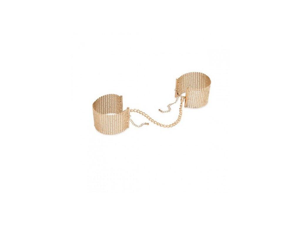 Bijoux Indiscrets Désir METALLIQUE – kovová ozdobná pouta, zlatá