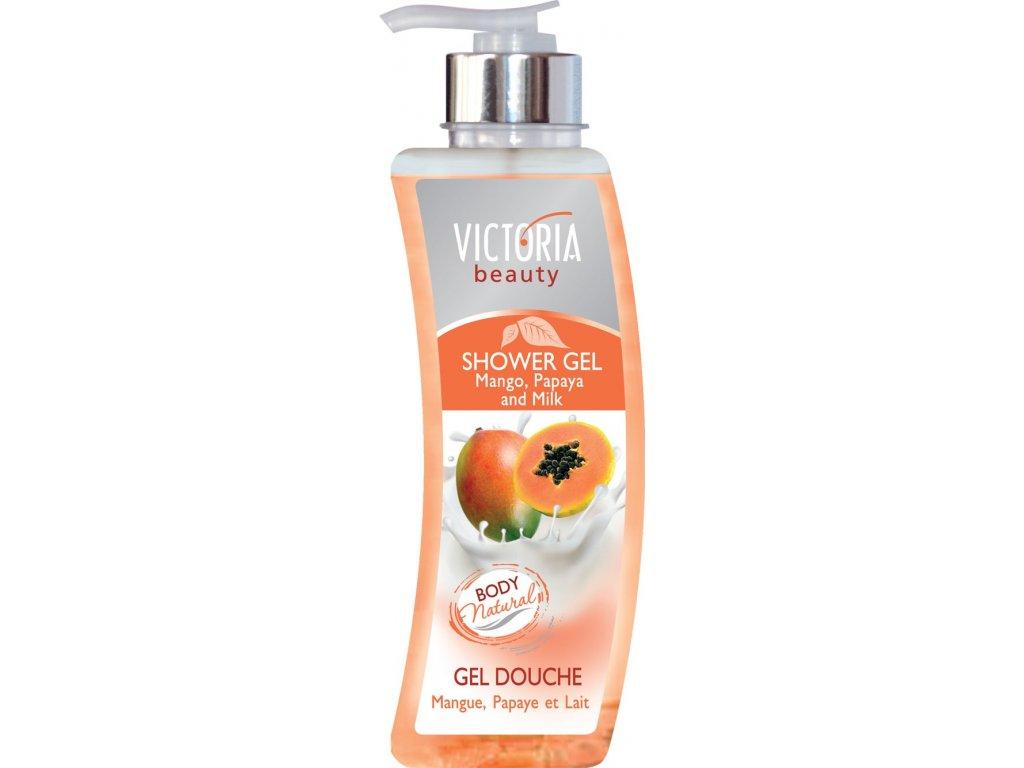 Victoria Beauty Tělové mléko Mango, papája a mléko, 400 ml