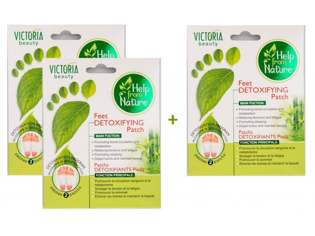 Victoria Beauty Detoxikační náplasti na nohy, AKCE 2+1 ZDARMA, 3 ks
