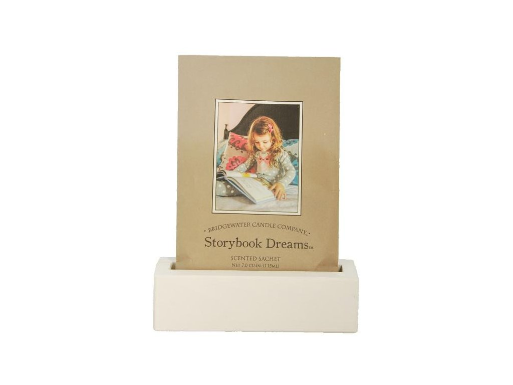 Bridgewater Candle Company Dřevěný stojánek na vonné sáčky, bílý,  14x4x4 cm