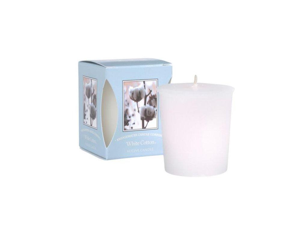 Bridgewater Candle Company Vonná votivní svíčka White cotton, 15 hodin