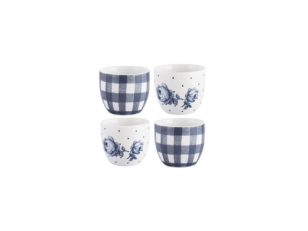 Creative Tops Porcelánové kalíšky na vajíčka Vintage Indigo, 4 ks