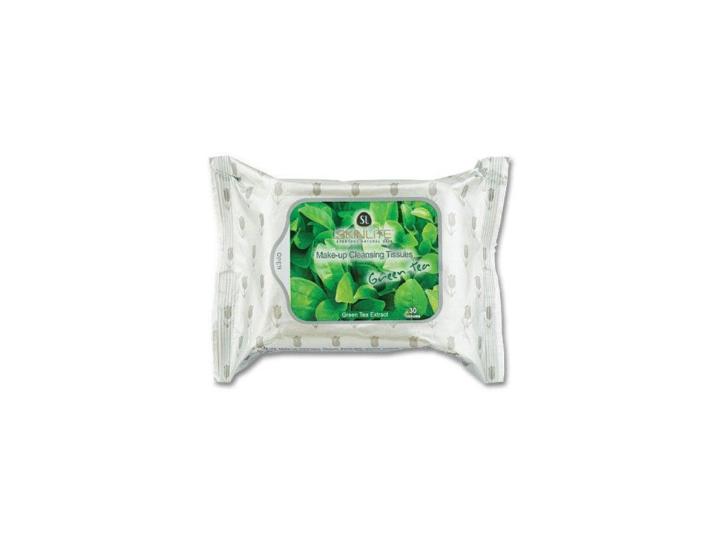 Skinlite Čisticí pleťové ubrousky  Zelený čaj, 30ks