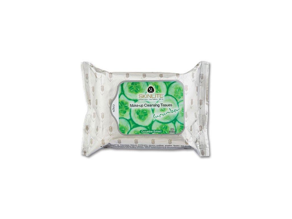 Skinlite Čisticí pleťové ubrousky s výtažky z okurky 30ks