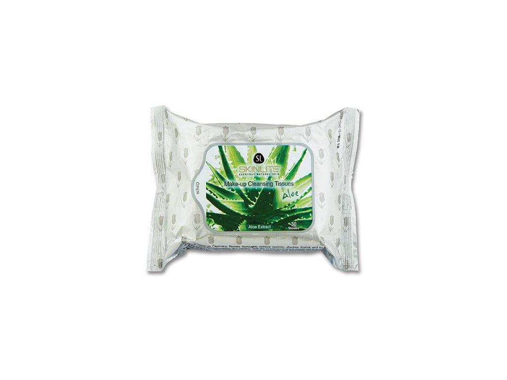 Skinlite Čisticí pleťové ubrousky s výtažky z aloe vera, 30ks
