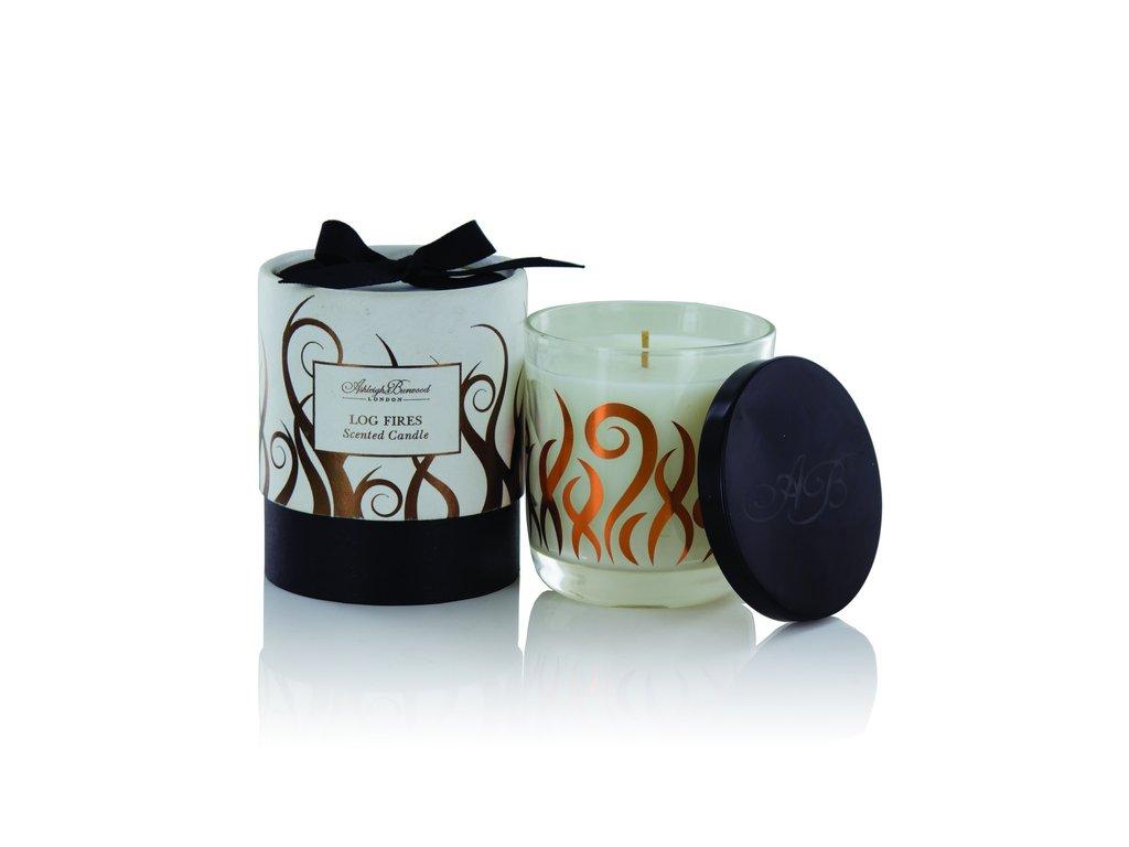 Ashleigh & Burwood Vánoční svíčka LOG FIRES