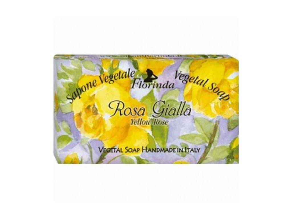 La Dispensa Italské přírodní mýdlo Rosa Gialla (žlutá růže), 100 g