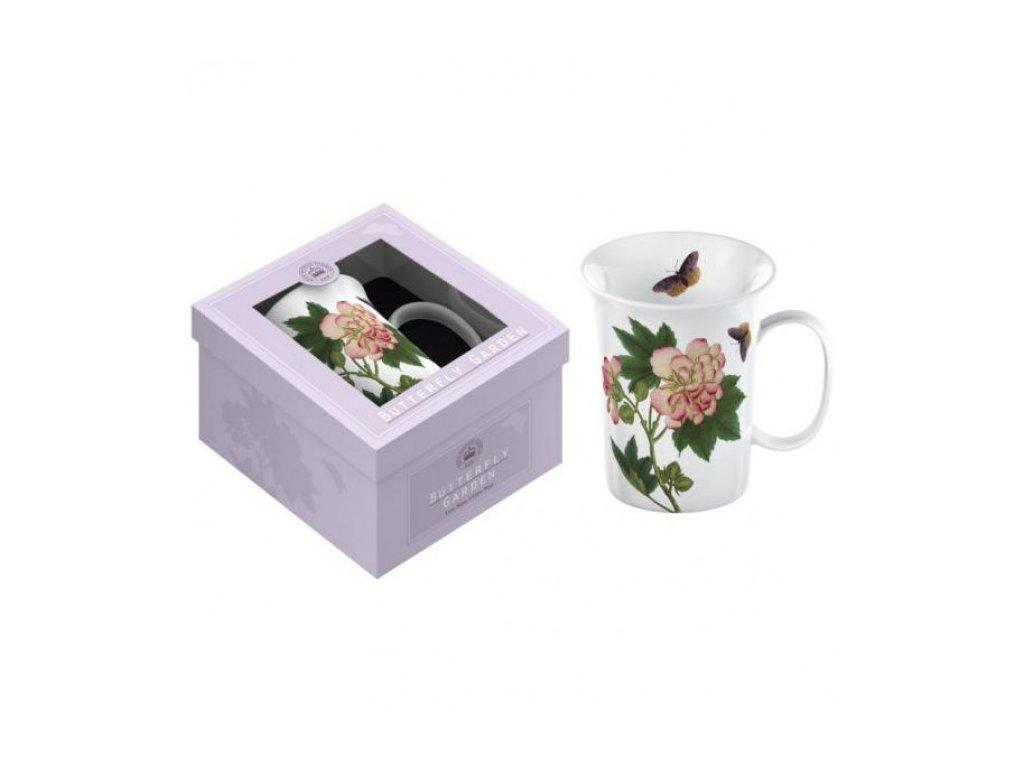 Creative Tops Porcelánový hrnek Purple Butterfly v dárkové krabičce, 350 ml