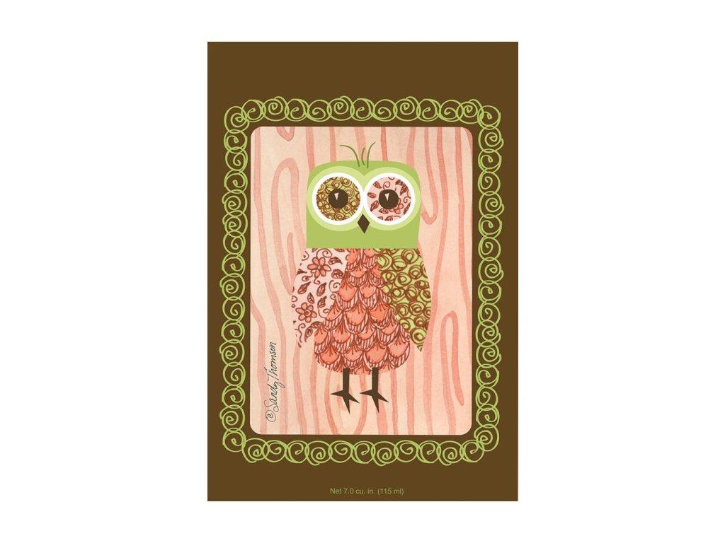 wb envelope sachet pink owl