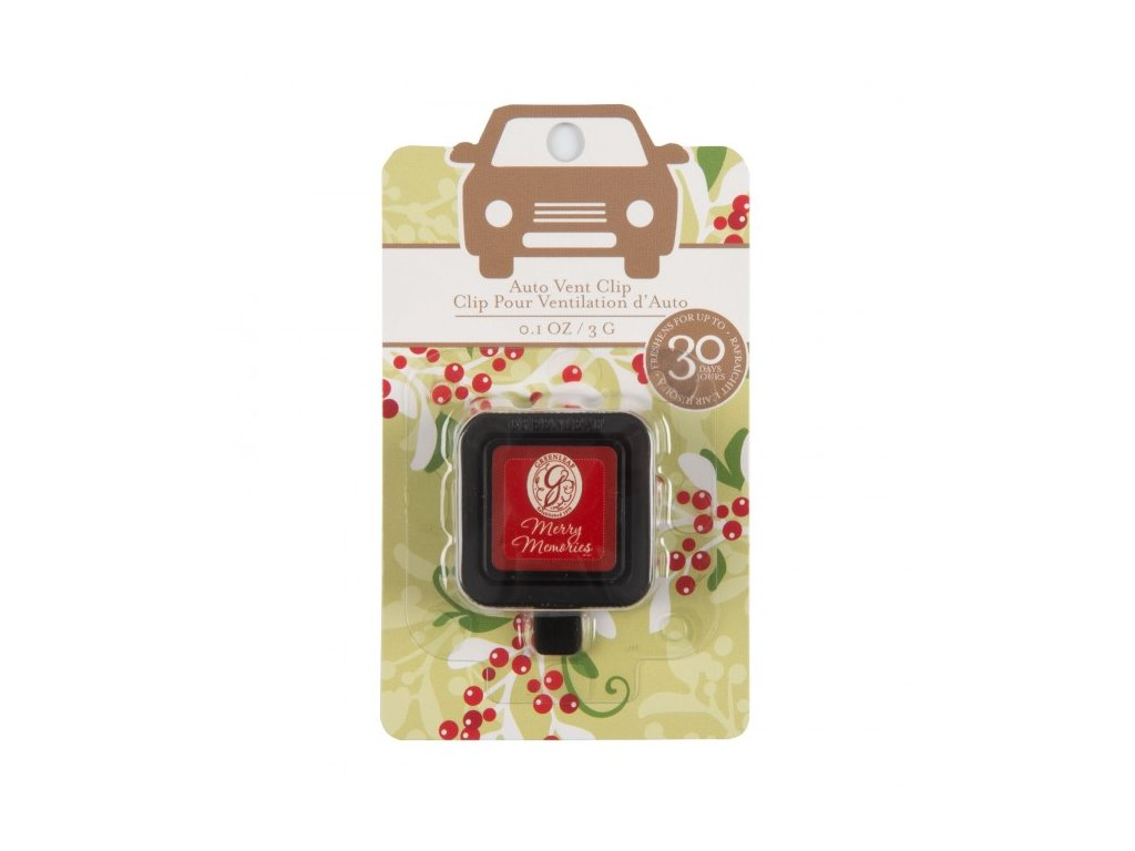 gl holiday auto vent clip blister pack merry memories