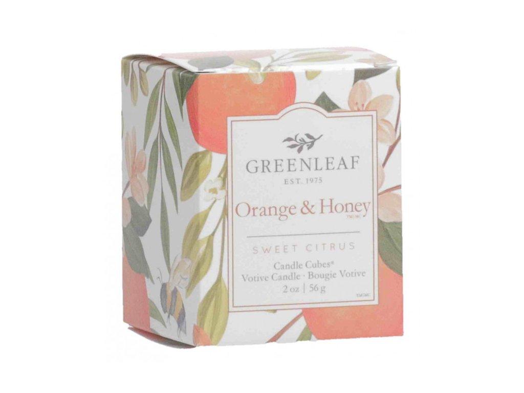 gl candlecube orange honey