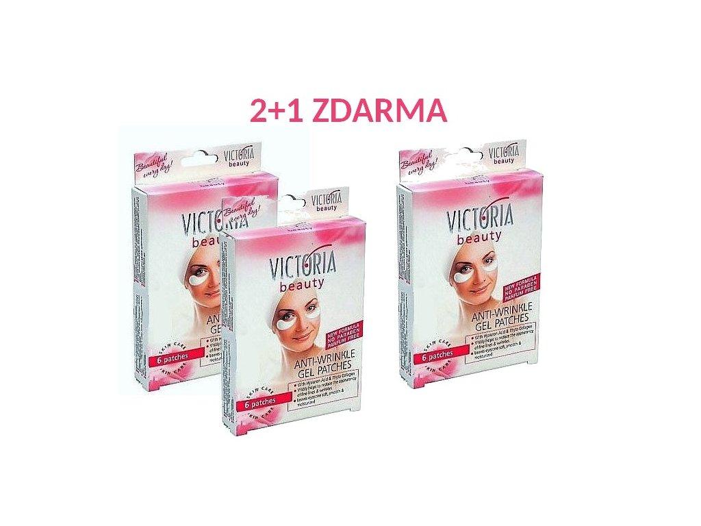 Victoria Beauty Gelové náplasti na oční okolí AKCE 2+1 ZDARMA 18 ks