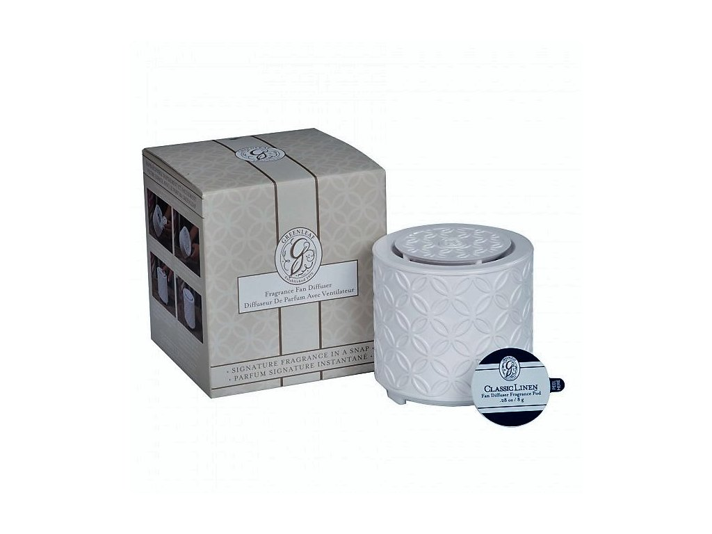 gl fragrance fan diffuser with classic linen fragrance pod 1