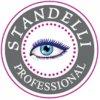 Standelli Professional Stříbrná pinzeta pro profesionální použití, rovná .
