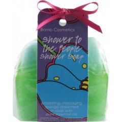 Bomb cosmetics Sprchové masážní mýdlo Limetka a kiwi 140 g