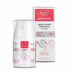 Victoria Beauty PREMIUM SNAIL & PLANT STEM CELLS Denní liftingový krém se šnečím extraktem 50+, 50 ml