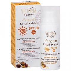 Victoria Beauty ARGAN Voděodolný opalovací krém na obličej SPF 30 50 ml