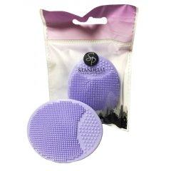 Standelli Proffesional silikonová masážní houbička fialová
