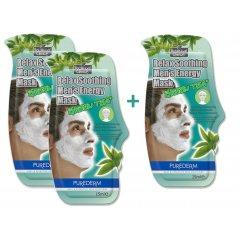 Purederm Relaxační pleťová maska pro muže,15ml AKCE 2+1 ZDARMA
