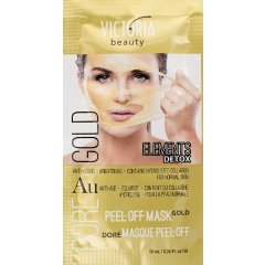 Victoria Beauty DETOX Gold (zlatá) Slupovací maska s kolagenem 10ml